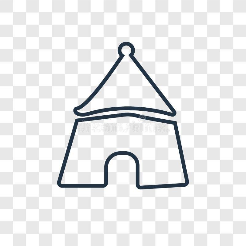 El icono linear del vector del concepto del parque de atracciones aislado encendido transparen ilustración del vector
