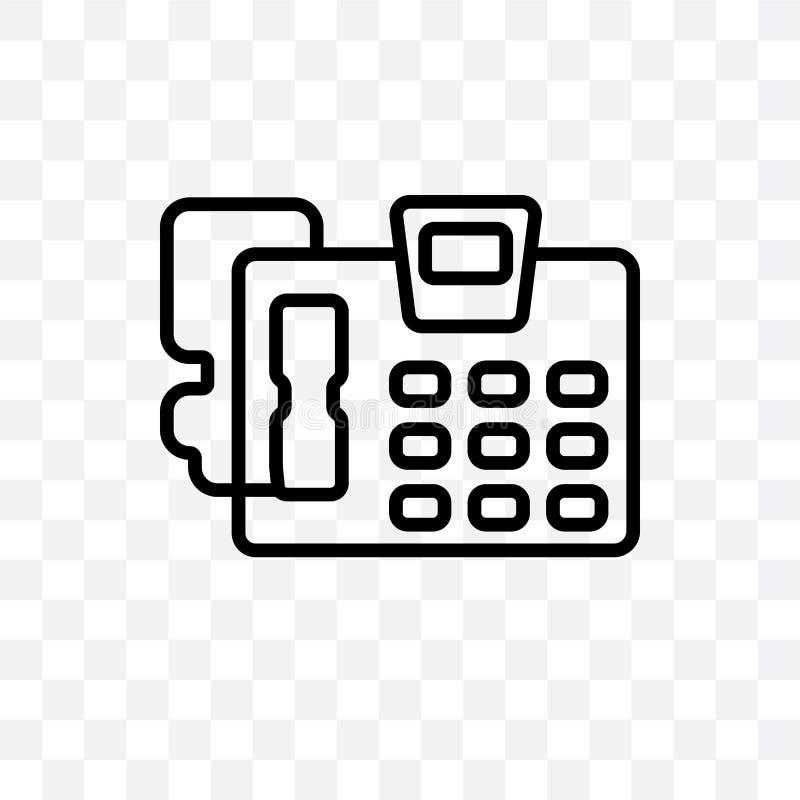 el icono linear del vector del contestador automático aislado en fondo transparente, concepto de la transparencia del contestador libre illustration