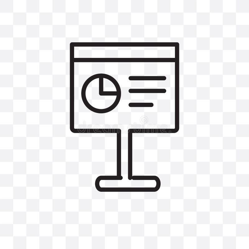 El icono linear del vector de la presentación aislado en el fondo transparente, concepto de la transparencia de la presentación s libre illustration