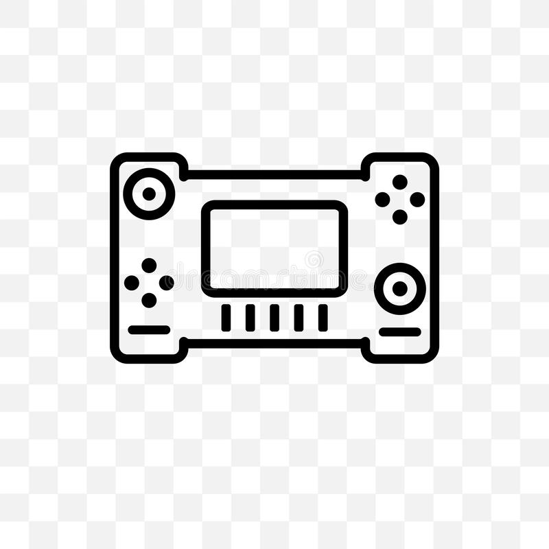 El icono linear del vector del interruptor de Nintendo aislado en el fondo transparente, concepto de la transparencia del interru libre illustration