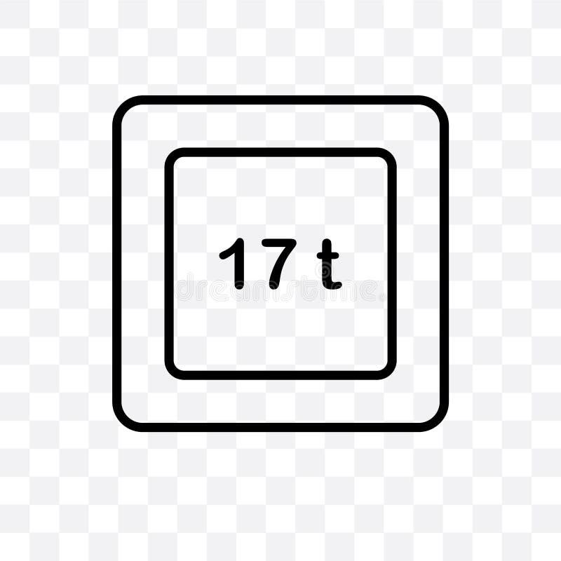 el icono linear del vector del límite del peso aislado en el fondo transparente, concepto de la transparencia del límite del peso stock de ilustración