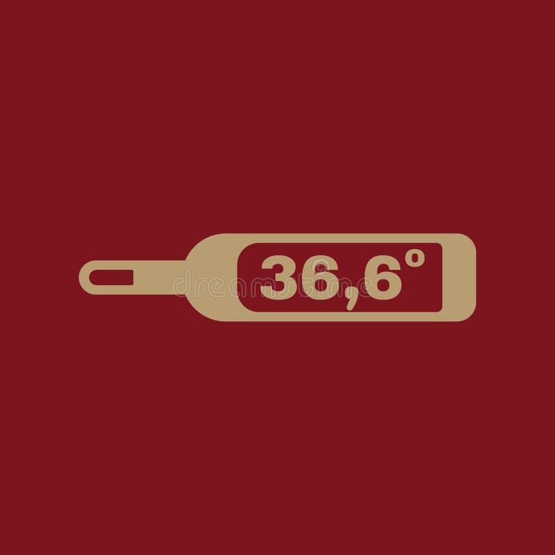 El icono médico del termómetro Sano y de diagnóstico, doctor, símbolo de la medicina plano libre illustration