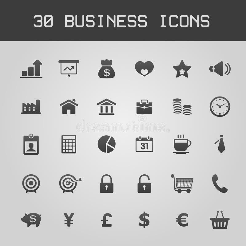 Sistema del icono de los elementos del diseño de negocio stock de ilustración