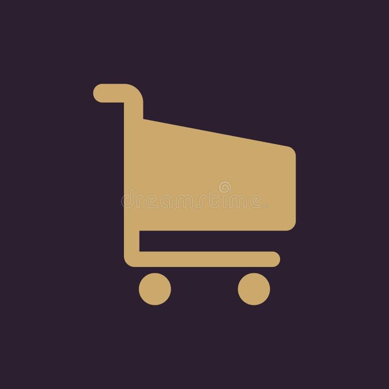 El icono shoping del carro Símbolo del carro de la tienda plano libre illustration