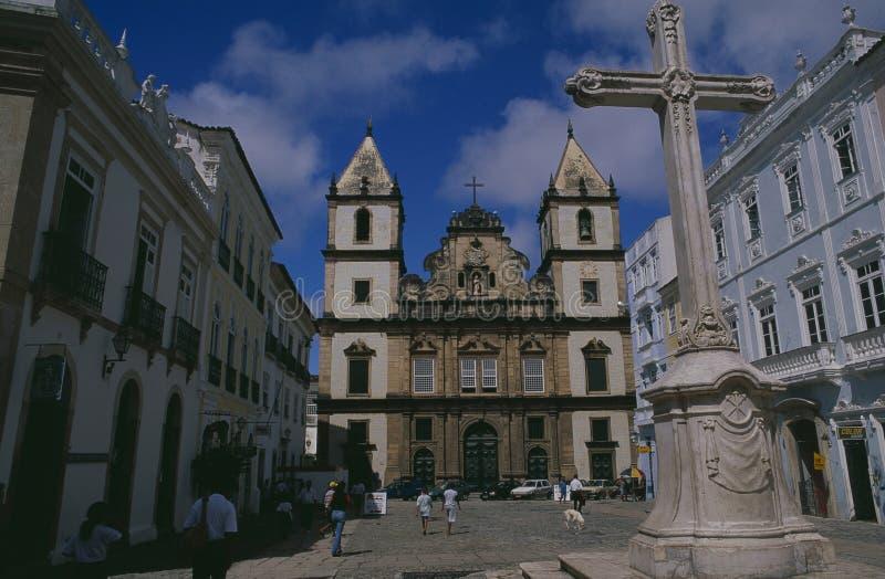 El Igreja DA Ordem Terceira de São Francisco en el patrimonio mundial Pelourinho de la UNESCO en Salvador de Bahia fotos de archivo