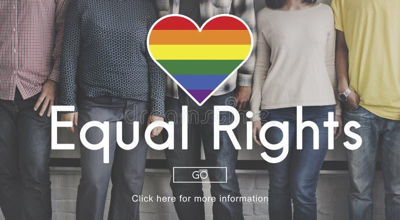 El igual de LGBT endereza concepto del símbolo del arco iris foto de archivo libre de regalías