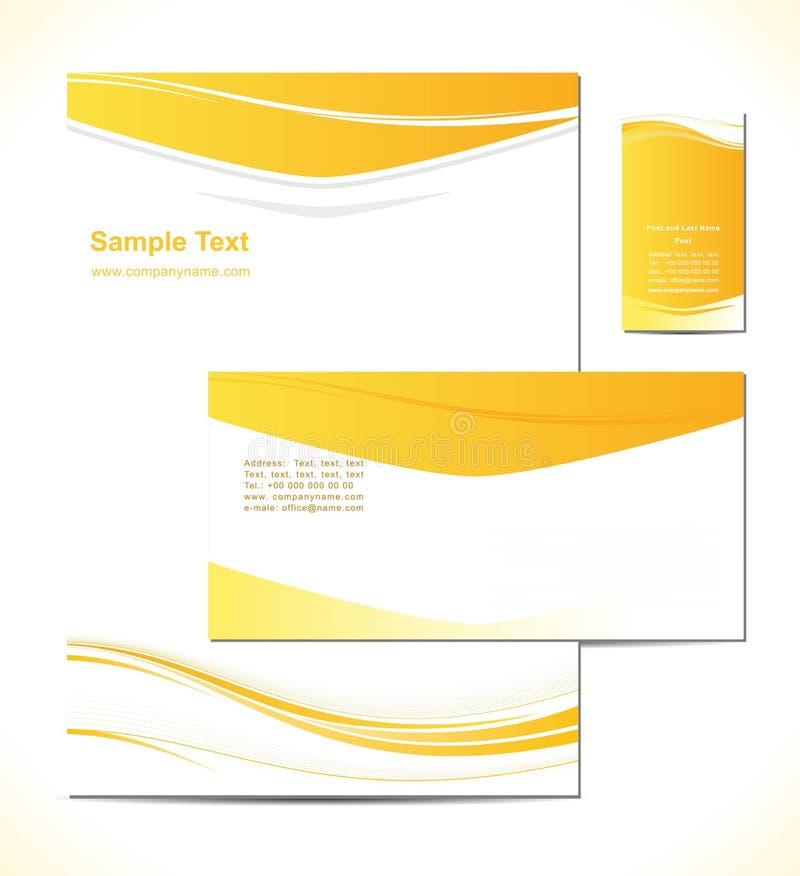 El illustresion del vector es un desig del modelo del papel con membrete stock de ilustración