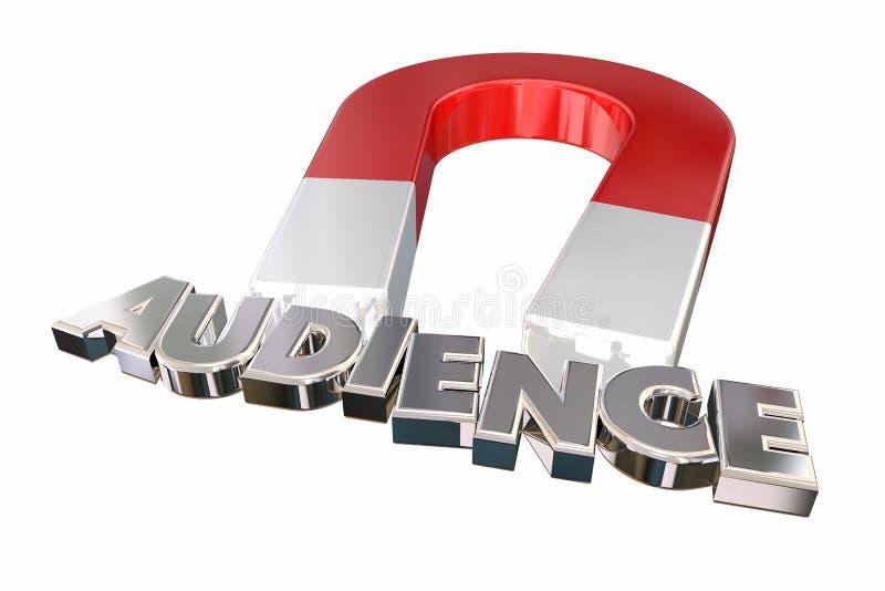 El imán que atrae a clientes de los visitantes de la audiencia redacta las letras 3d IL libre illustration
