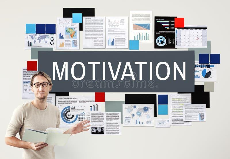 El incentivo del entusiasmo de la aspiración de la motivación inspira concepto ilustración del vector