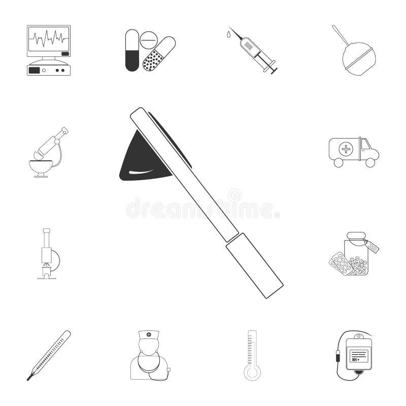 El indicador pela el icono Ejemplo simple del elemento El indicador pela diseño del símbolo de sistema médico de la colección Pue ilustración del vector