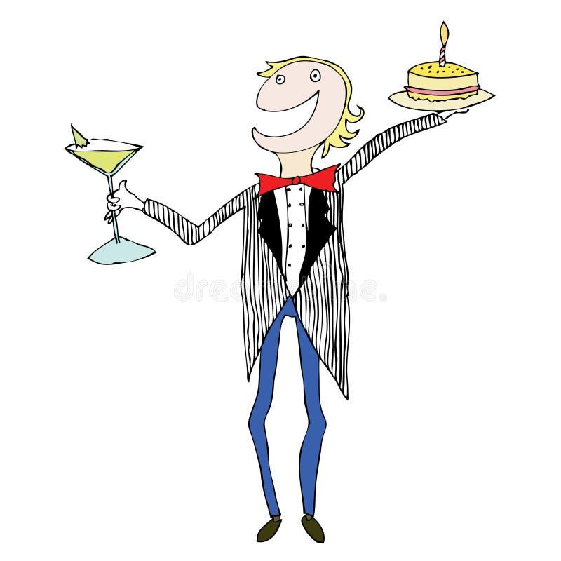 El individuo del partido celebra ilustración del vector