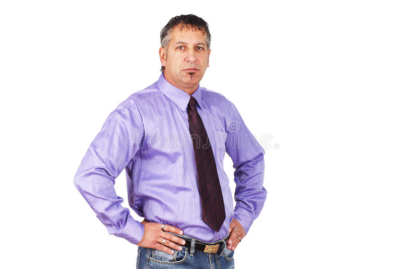 El individuo en la oficina fotos de archivo
