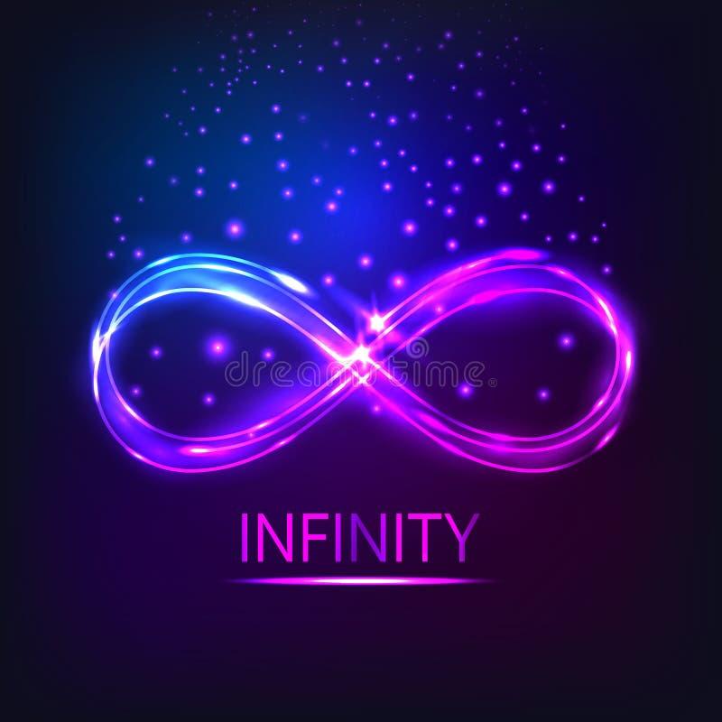 El infinito brillante ilustración del vector
