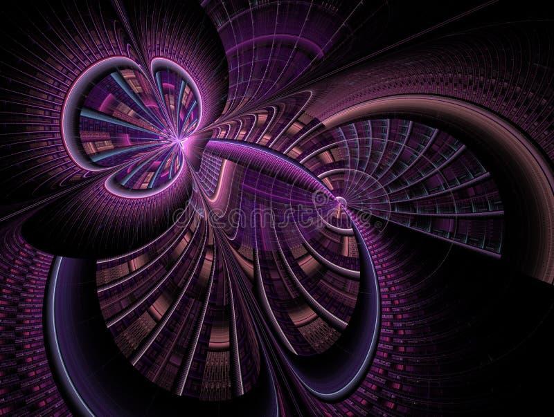El infinito del espacio y del tiempo Movimiento ca?tico en espacio stock de ilustración