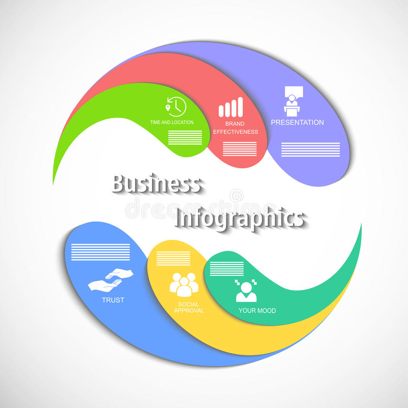 El infographics del círculo stock de ilustración