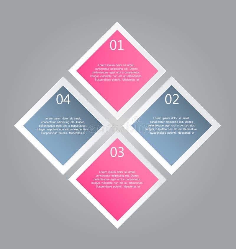 El infographics del negocio tabula la plantilla para la presentación, educación, diseño web, bandera, folleto, aviador libre illustration