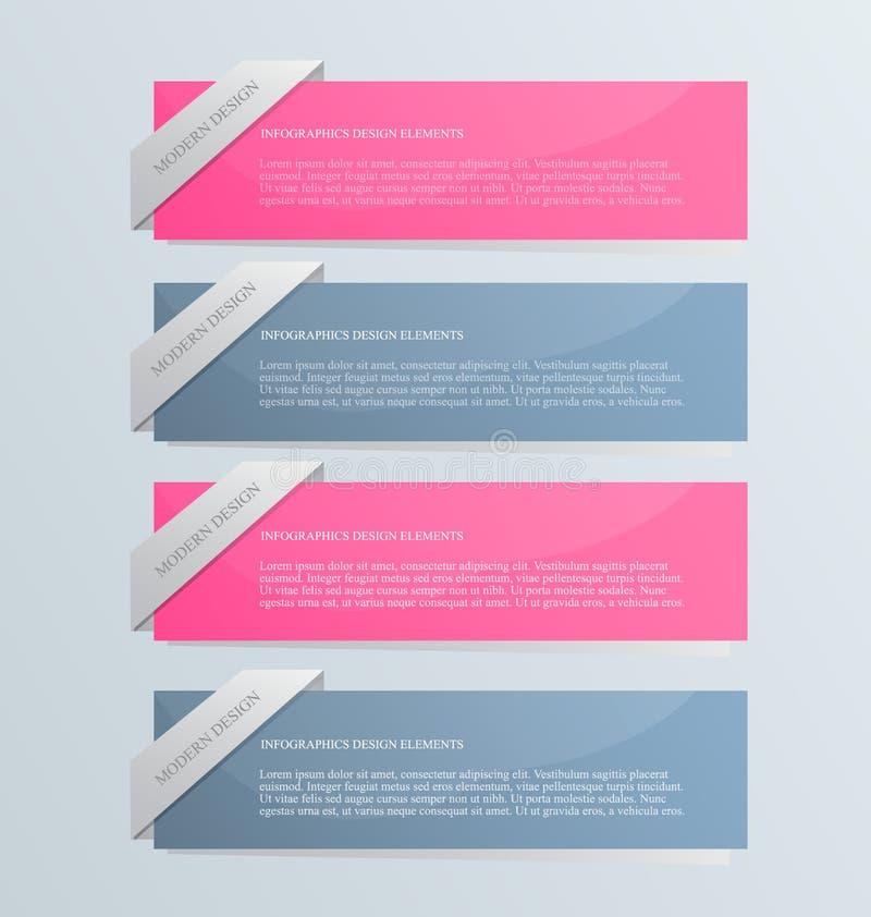 El infographics del negocio tabula la plantilla para la presentación, educación, diseño web, bandera, folleto, aviador stock de ilustración