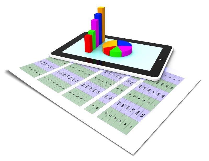 El informe en línea muestra el World Wide Web y la conexión ilustración del vector