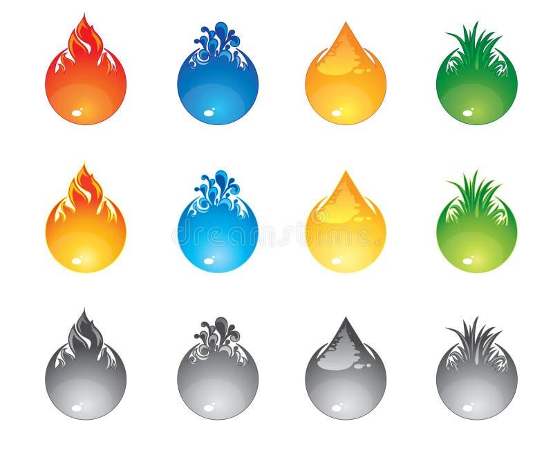 El interfaz abotona elementos ilustración del vector