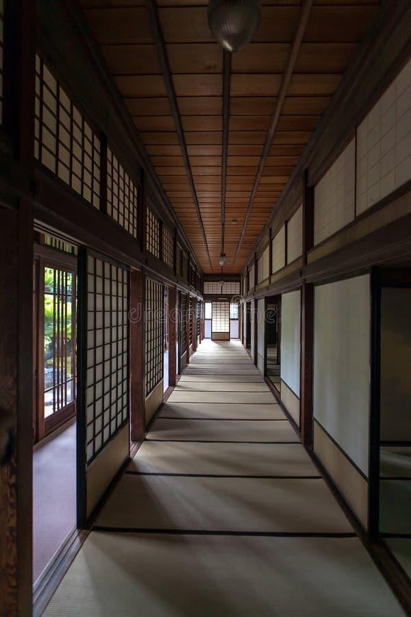 El interior de la casa japonesa imágenes de archivo libres de regalías