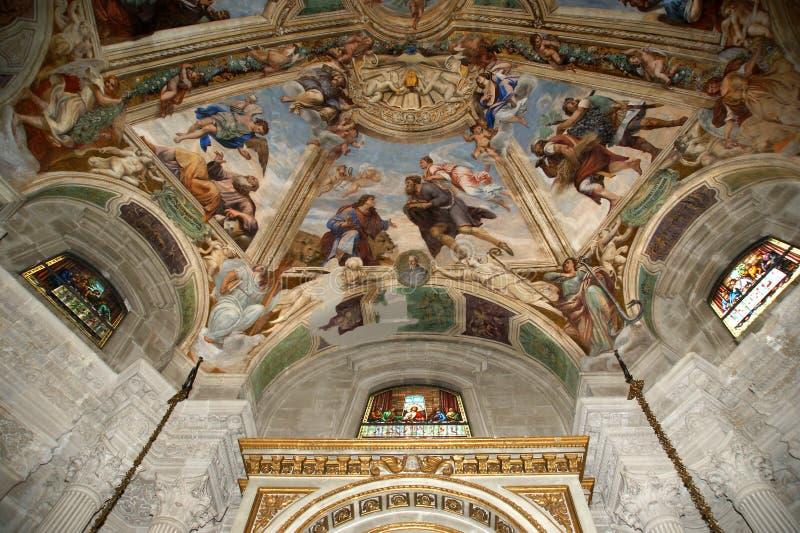El interior de la catedral DE SYRACUSE fotografía de archivo libre de regalías