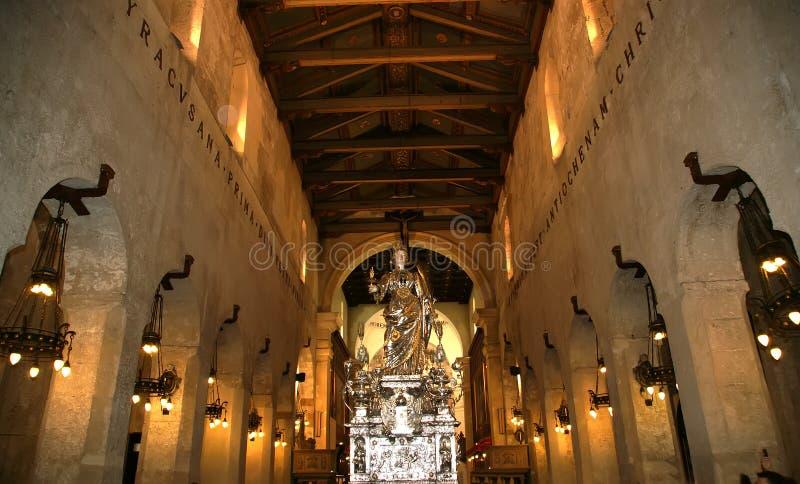 El interior de la catedral DE SYRACUSE fotos de archivo libres de regalías