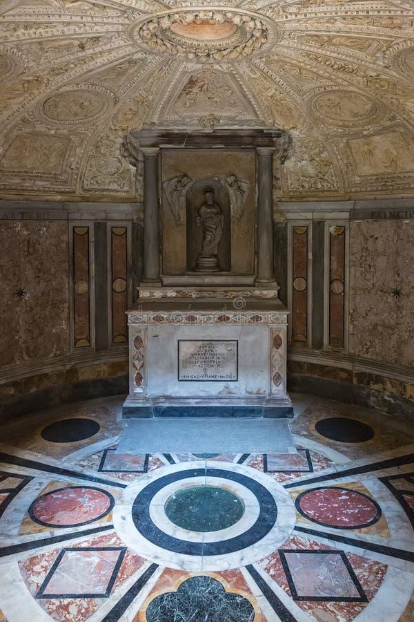 El interior de Tempietto construyó por Donato Bramante, Roma, Italia fotos de archivo libres de regalías