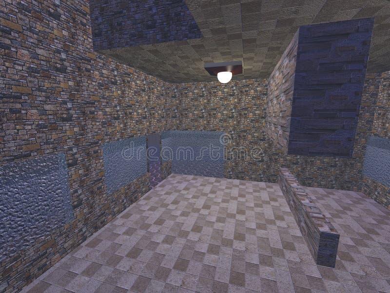 el interior de un apartamento vacío del ladrillo ilustración del vector