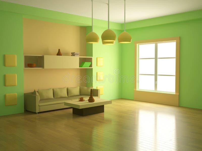 El interior de un cuarto grande ilustración del vector