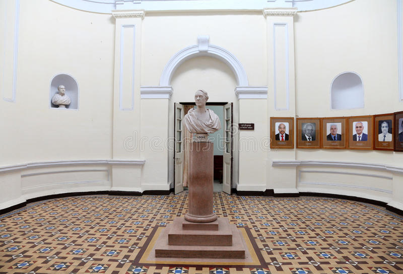 El interior del edificio administrativo de IIT Roorkee imagen de archivo libre de regalías