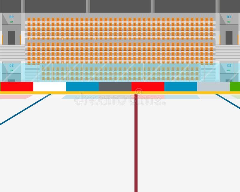 El interior del estadio ilustración del vector