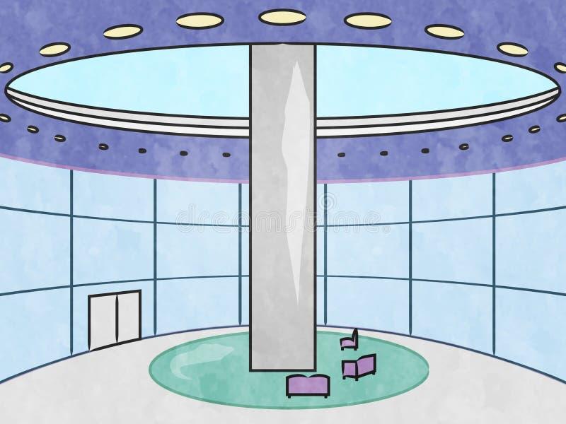 El interior del hotel muestra el ejemplo del alojamiento 3d de la ciudad libre illustration