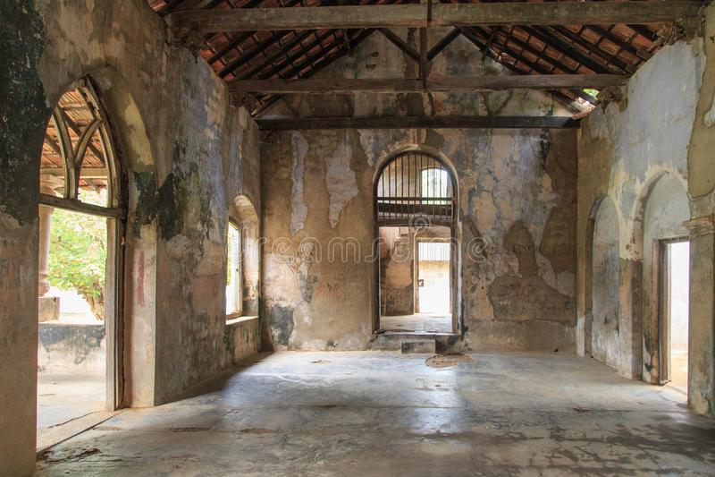 El interior del Mantri Manai o Manthiri Manai - Jaffna - Sri Lanka imágenes de archivo libres de regalías