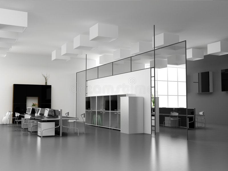 El interior moderno de la oficina ilustración del vector
