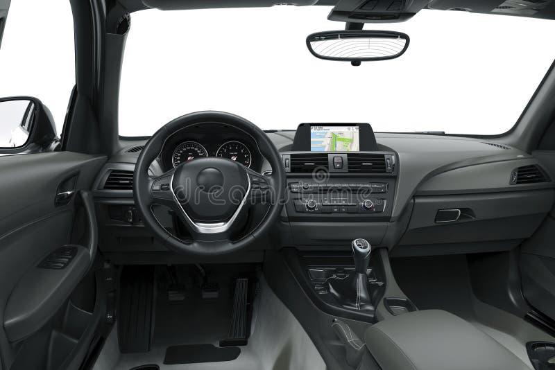 El interior o el interior de un coche moderno stock de ilustración