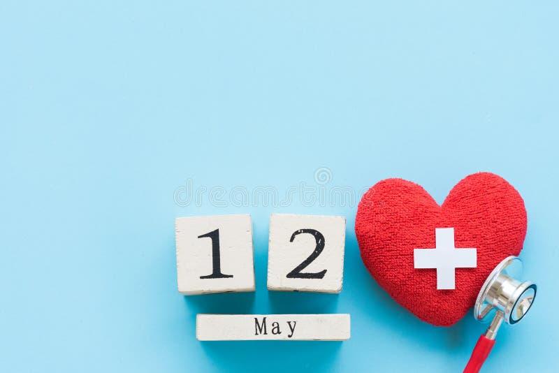 El International cuida día, el 12 de mayo Atención sanitaria y concepto médico fotos de archivo libres de regalías