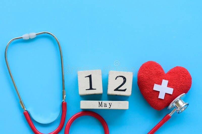 El International cuida día, el 12 de mayo Atención sanitaria y concepto médico fotografía de archivo libre de regalías