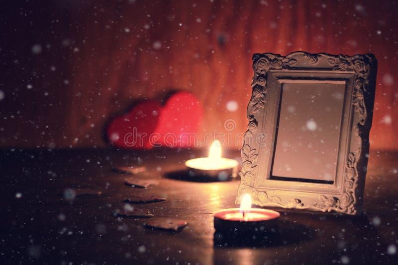 El invierno adorna a la hada de la nieve del día de fiesta de la linterna oscura foto de archivo libre de regalías