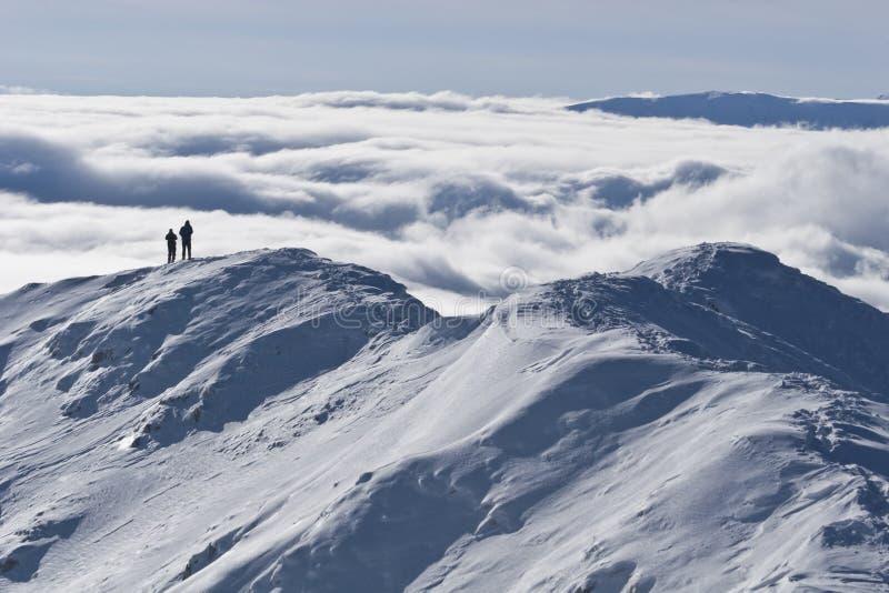 El invierno de la tapa de la montaña imágenes de archivo libres de regalías