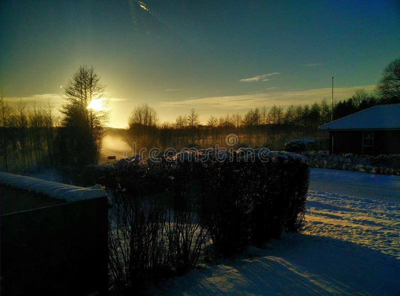 El invierno en Læsø es impresionante imagenes de archivo