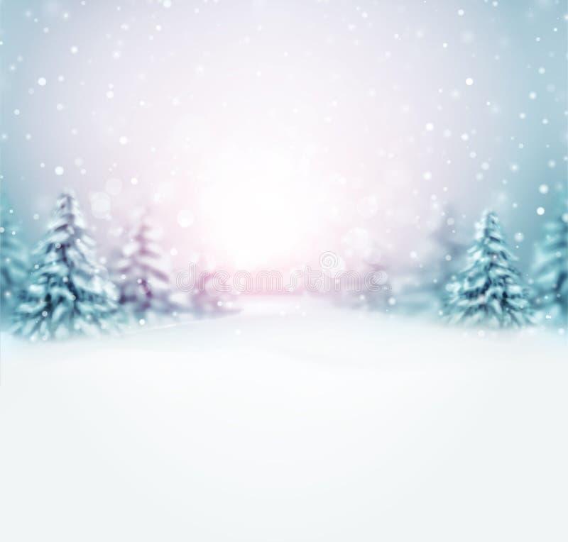 El invierno está viniendo stock de ilustración