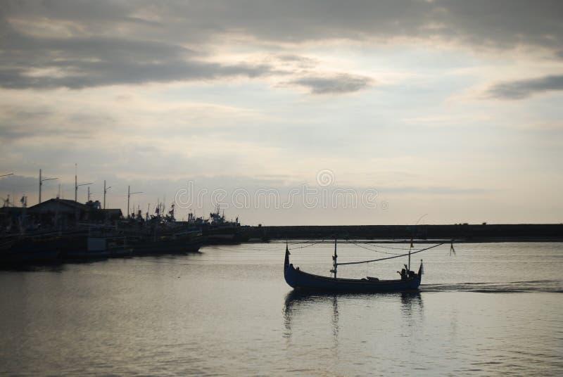 El ir a casa de la pesca foto de archivo libre de regalías