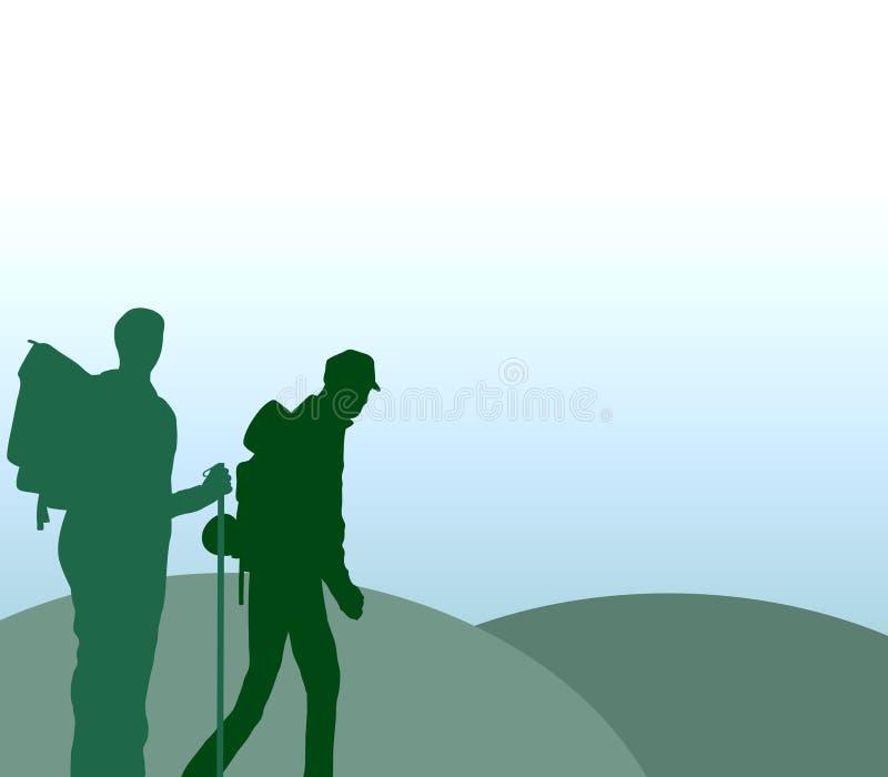 El ir de excursión ilustración del vector