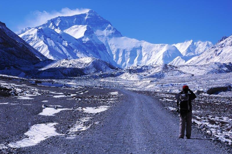 El ir de excursión a A.C. de Everest fotos de archivo libres de regalías