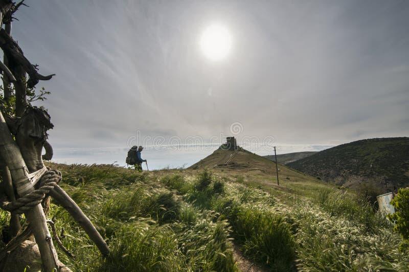 El ir de excursión en Crimea fotos de archivo