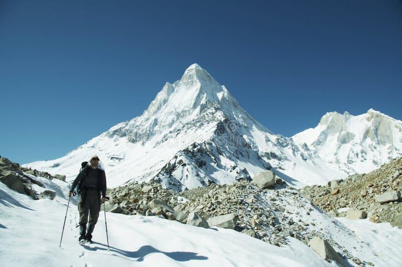 El ir de excursión en Himalayan foto de archivo libre de regalías