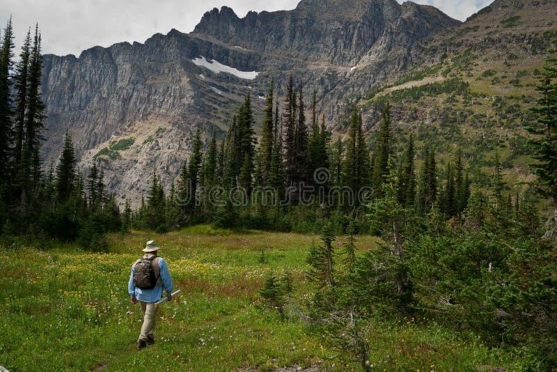 El ir de excursión en las montañas imágenes de archivo libres de regalías