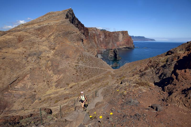 El ir de excursión en Madeira fotos de archivo
