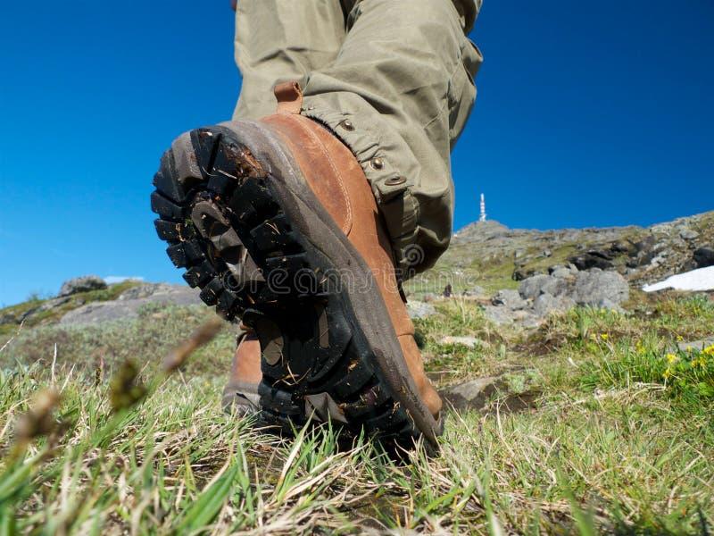 El ir de excursión nórdico imagenes de archivo
