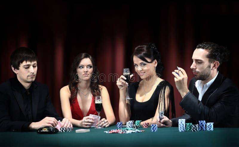 El ir del jugador de póker imagen de archivo libre de regalías